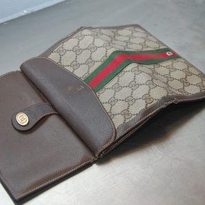 vintage auth  gucci long wallet